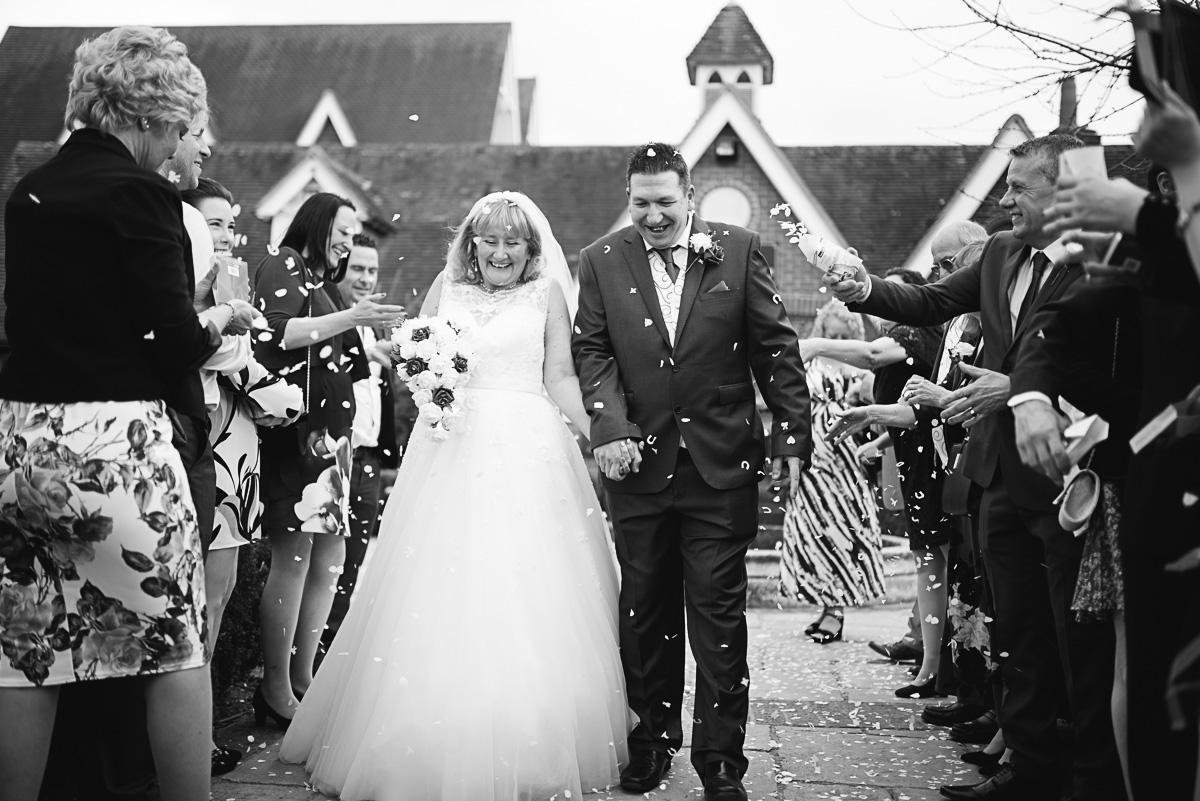 Confetti wedding photograph