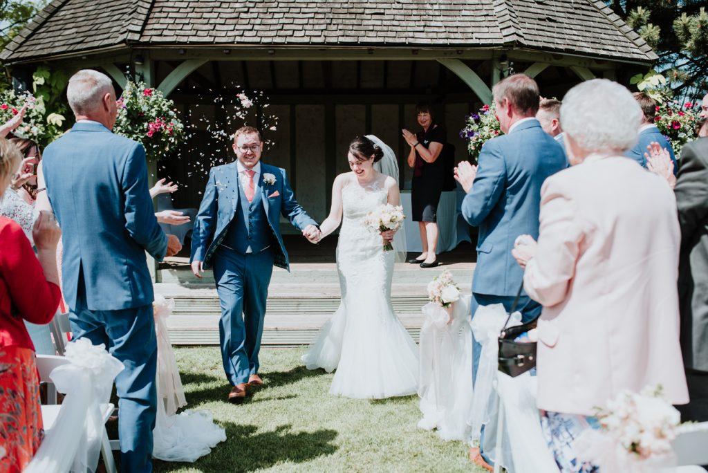 Cooling castle barn wedding