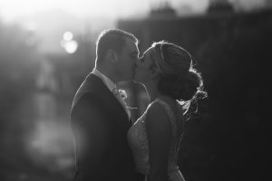 Wedding Photography in Chatham Park in Black and white
