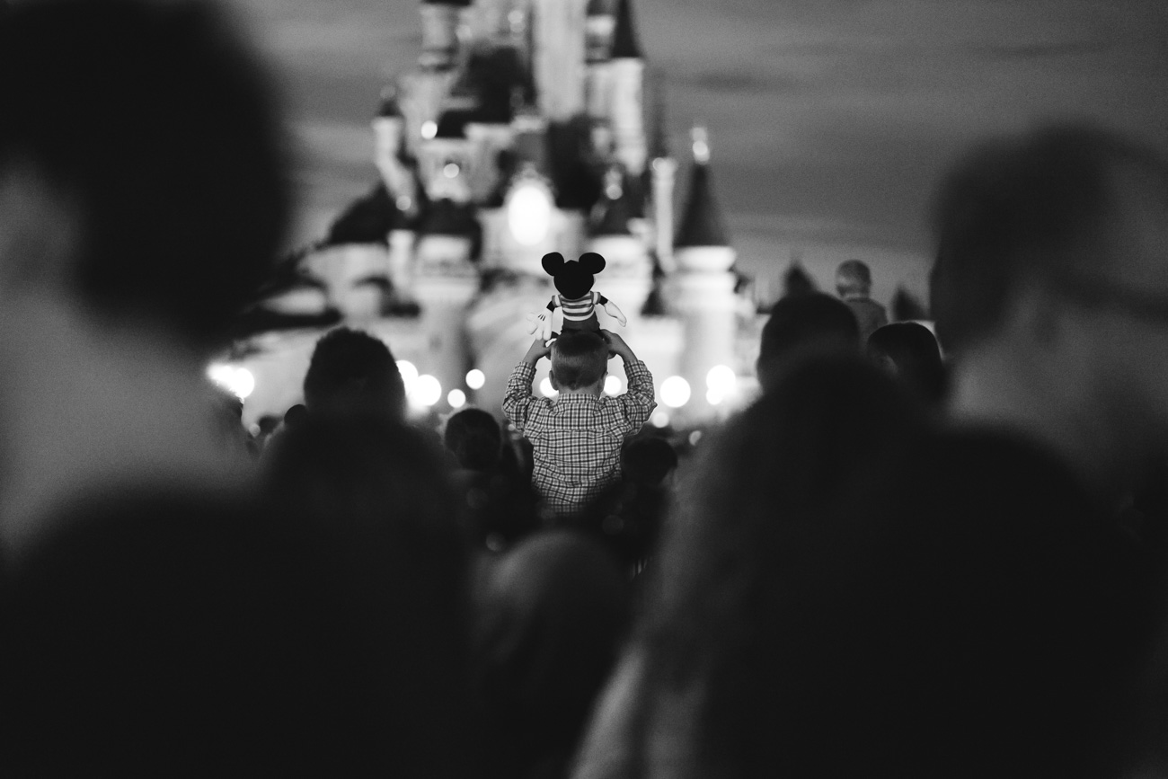 Mickey Mouse on shoulder at Disney Land Paris
