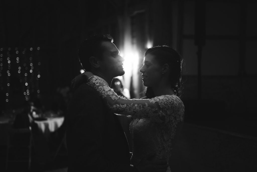 backlit first dance image by Kent Photographer