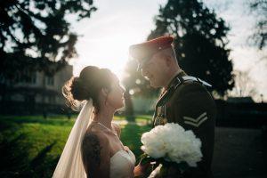 backlit kent wedding photograph