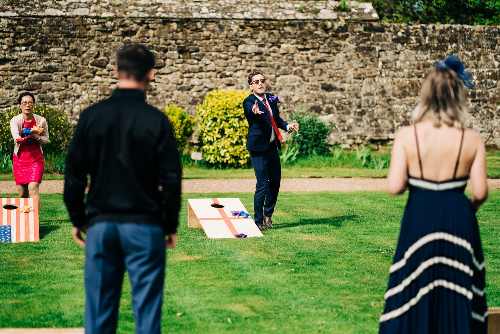 lawn games at Battle Abbey
