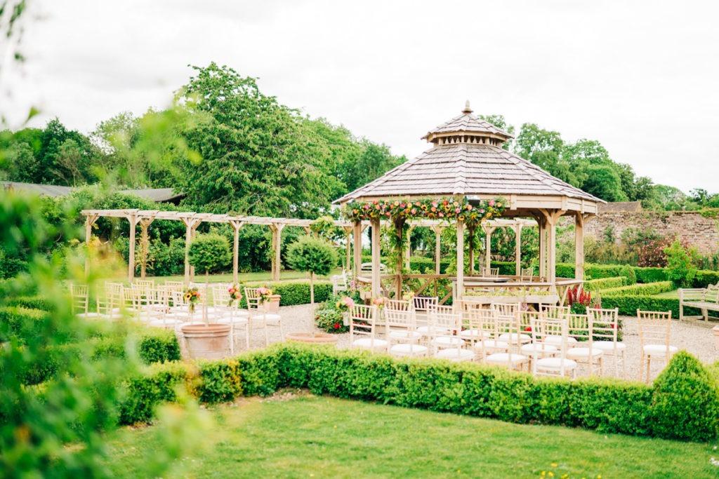 Secret Garden outdoor ceremony area