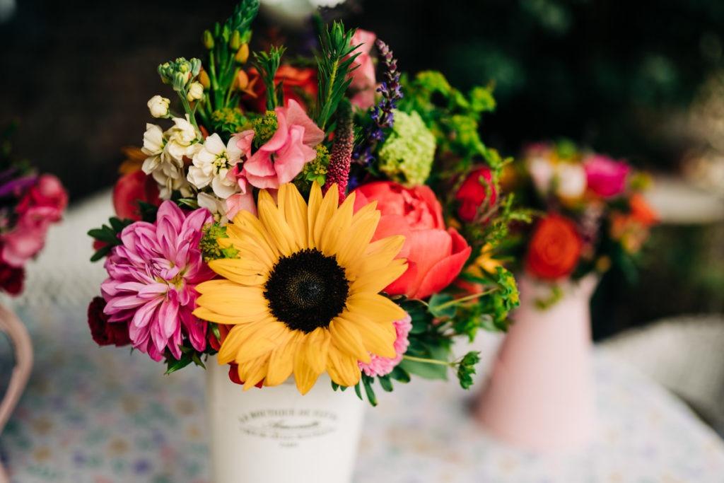 brides flowers at the secret garden