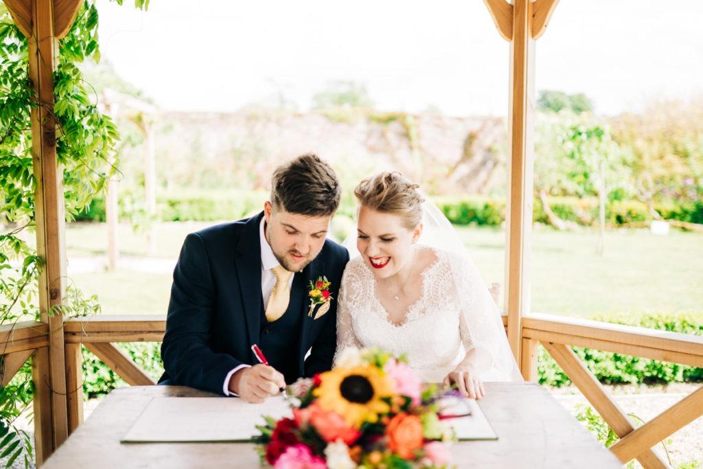 signing the register at Secret Garden ashford