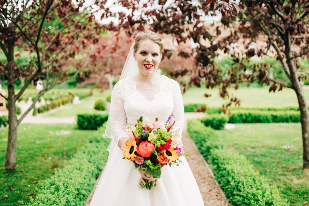 bridal portrait at secret gardens