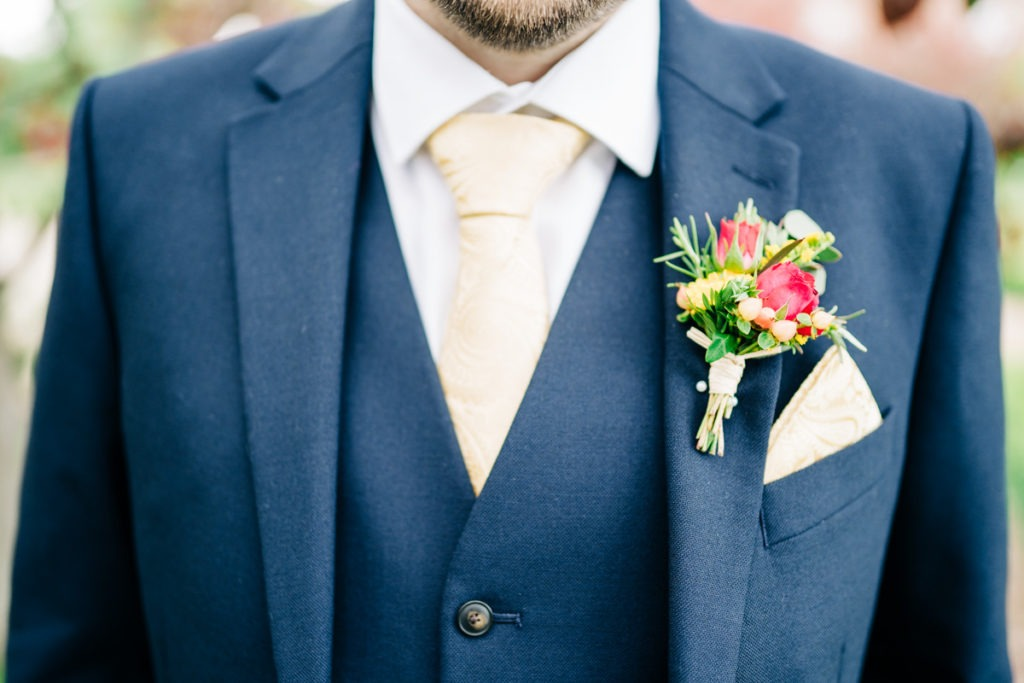 grooms buttonhole secret gardens
