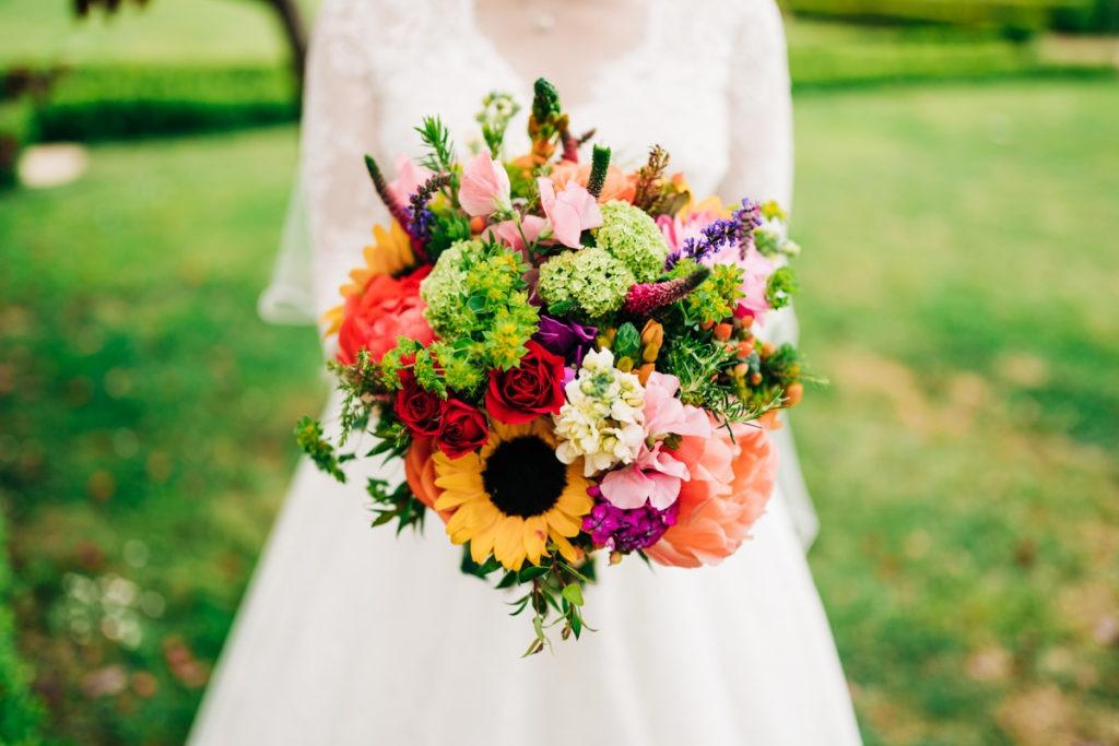 bridal bouquet at secret gardens