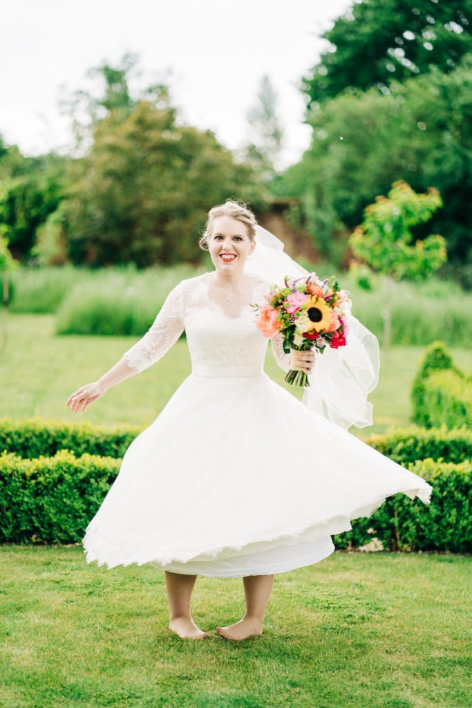 bridal twirl at Gardens