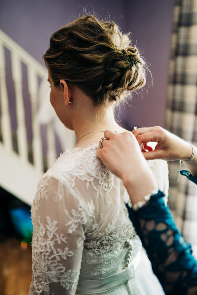 final touches before getting married