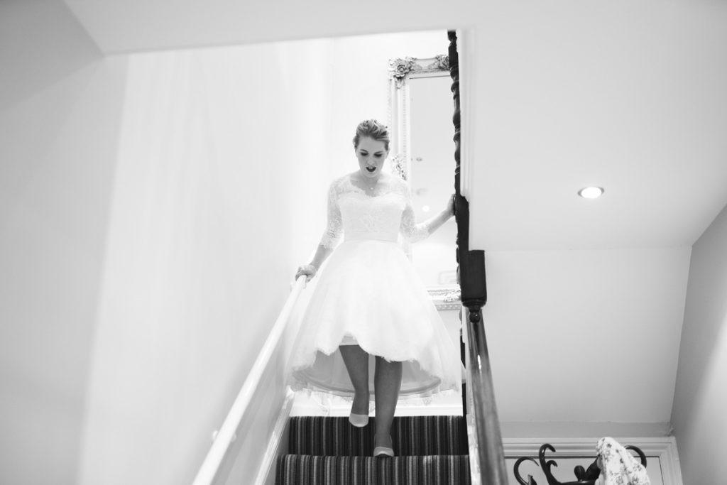 Bridal prep photograph of bride