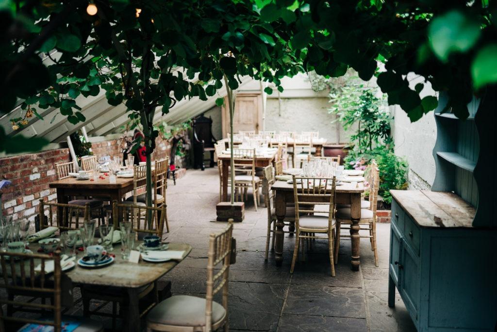 Wedding Breakfast inside the greenhouse