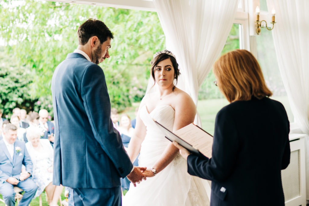 ceremony at chilston park hotel