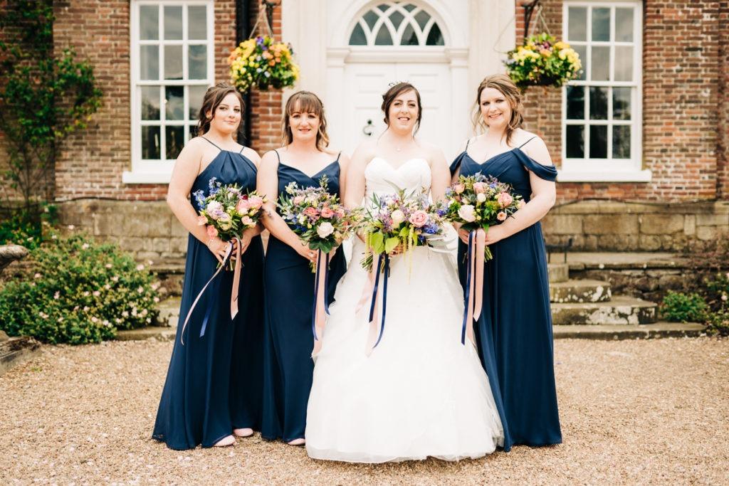 group photo at chilston park wedding