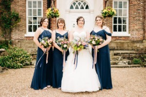 group photo at chilston park wedding
