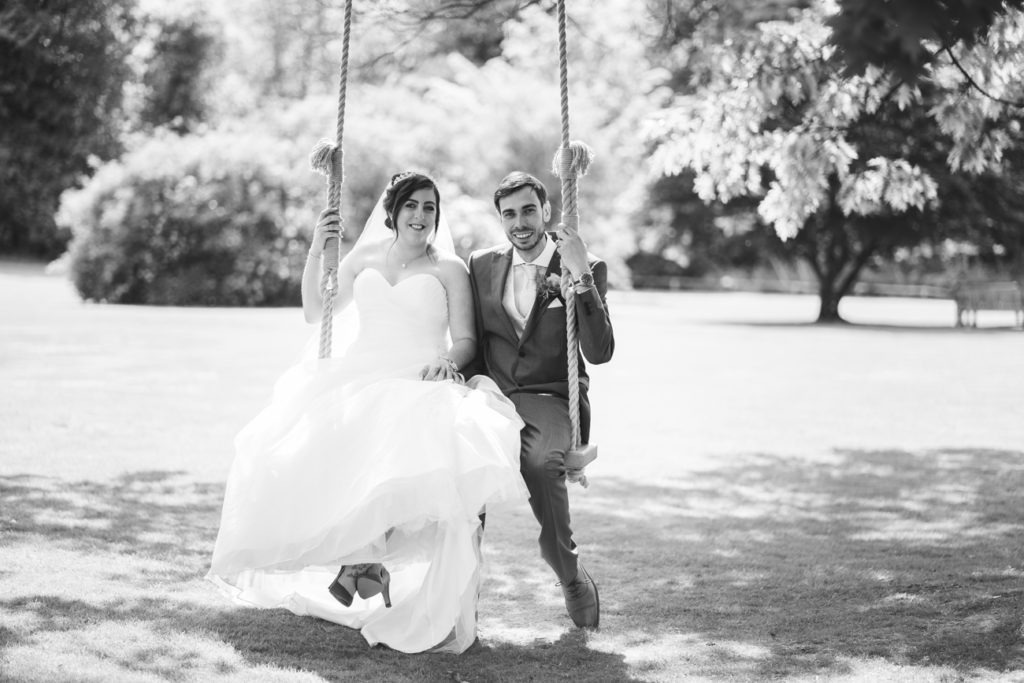 happy couple at chilston park