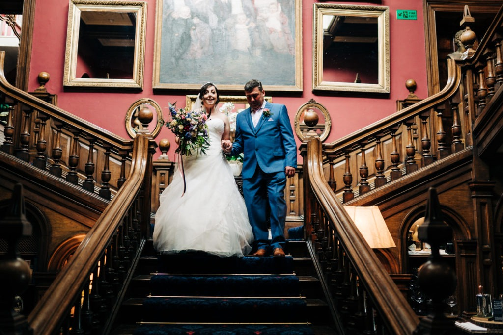 bride and dad at chilston park