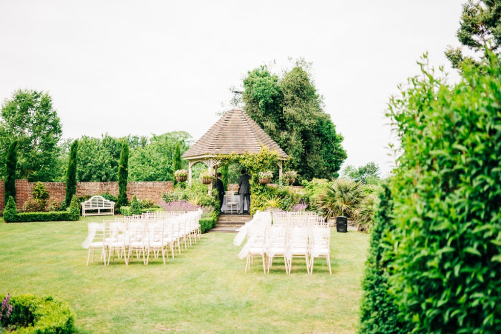 outside ceremony area at Knowle Country House wedding venue