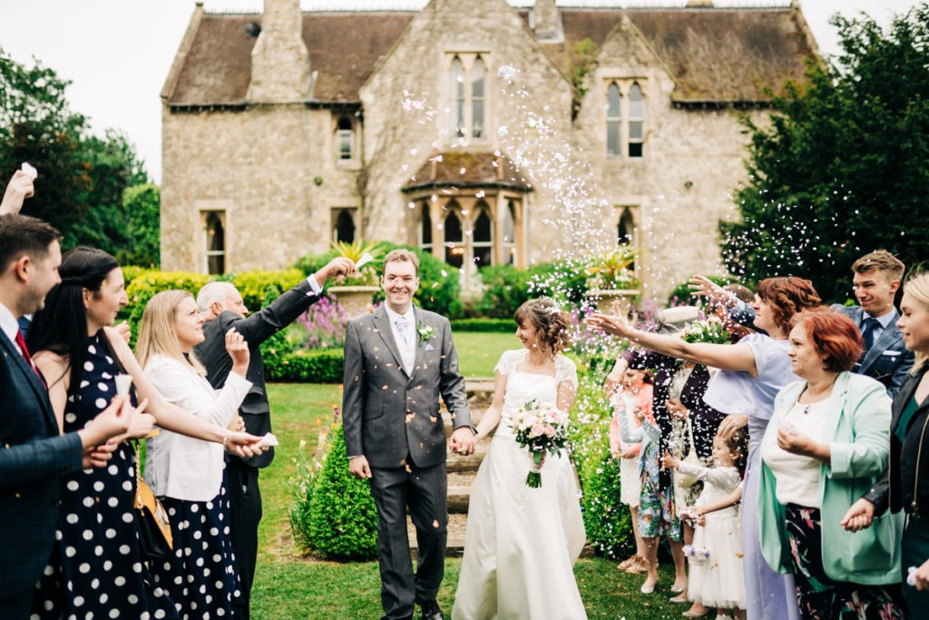 confetti photo at Knowle Country House