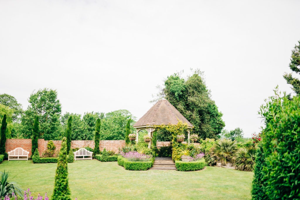 outside ceremony area of knowle country house
