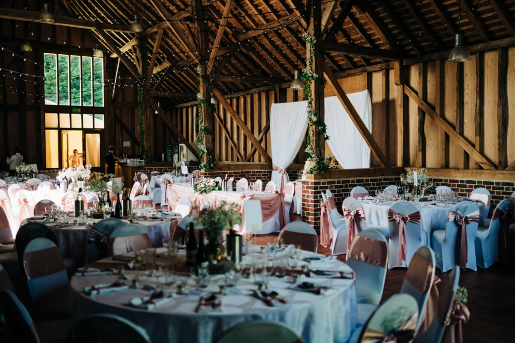 room at north barn aylesford priory wedding