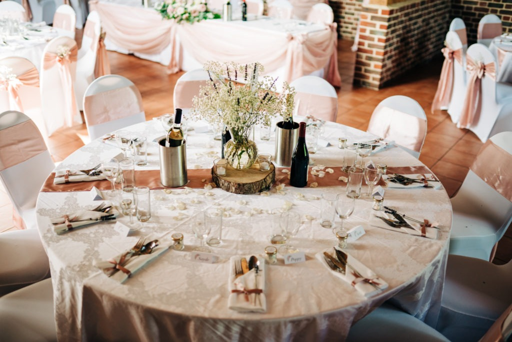 table layout at aylesford priory