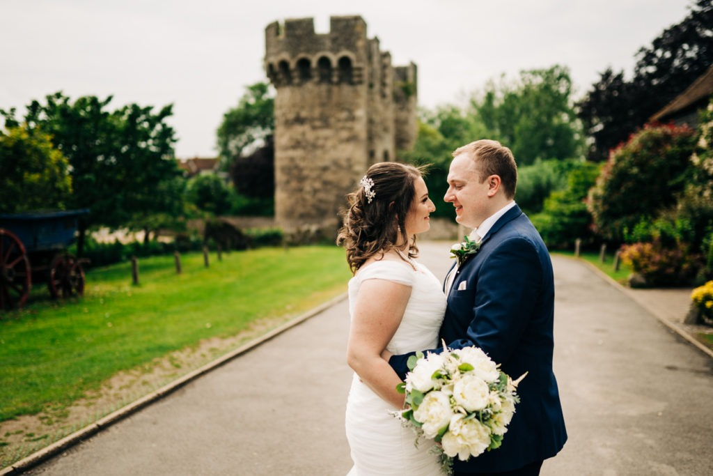 intimate moments at cooling castle wedding