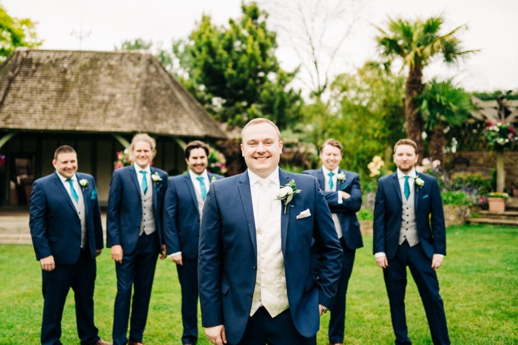 groom portrait at cooling castle
