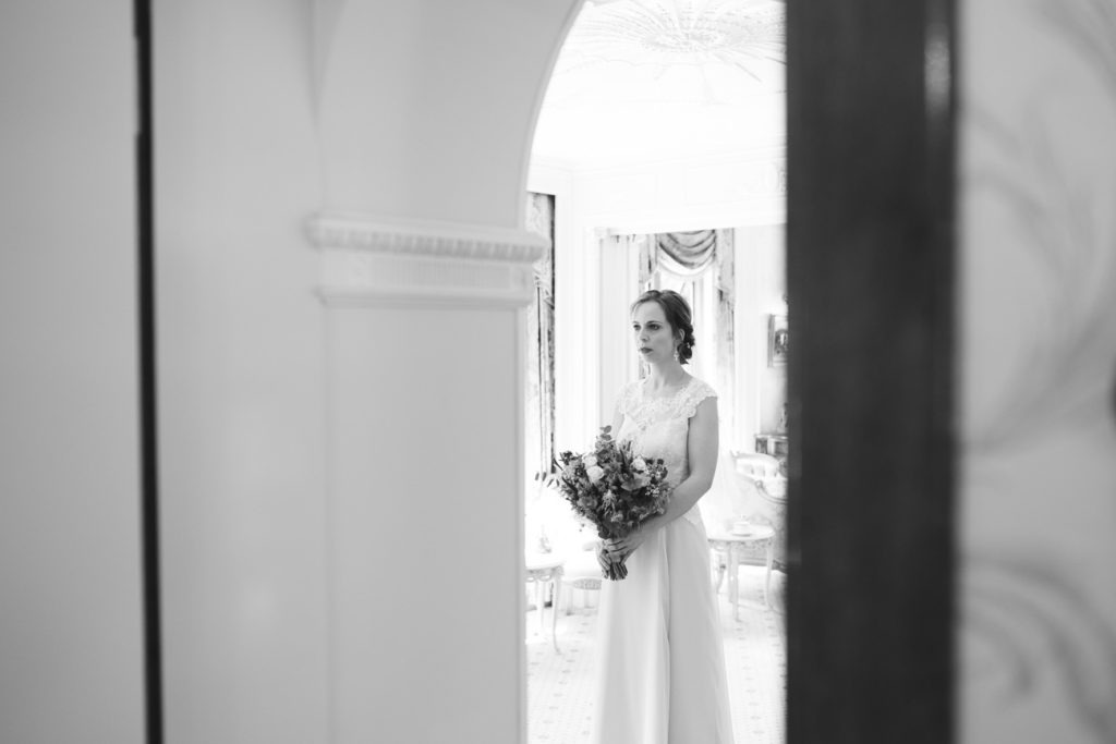 bride ready to get married at Havenfield Hall Bridal prep