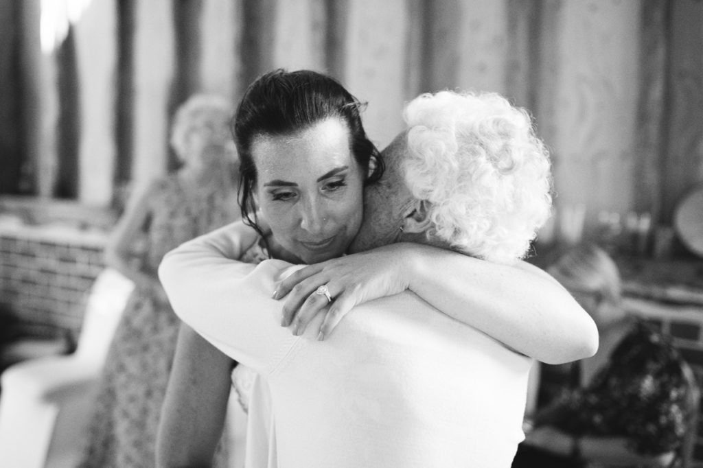 moments in a wedding hug