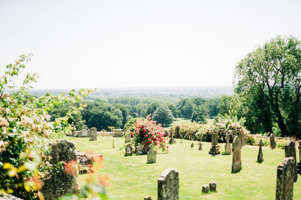 view from boughton monchelsea church