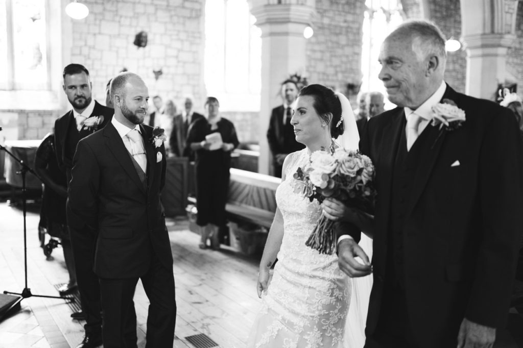 groom sees bide for first time maidstone wedding