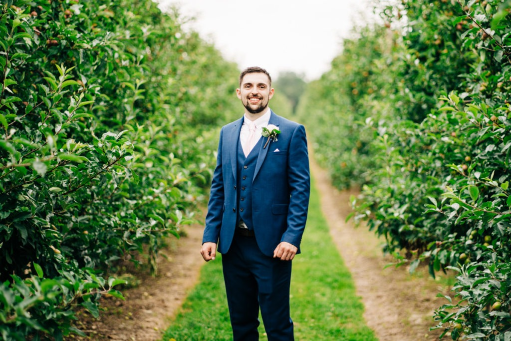 Groom portrait at the Barnyard in Upchurch