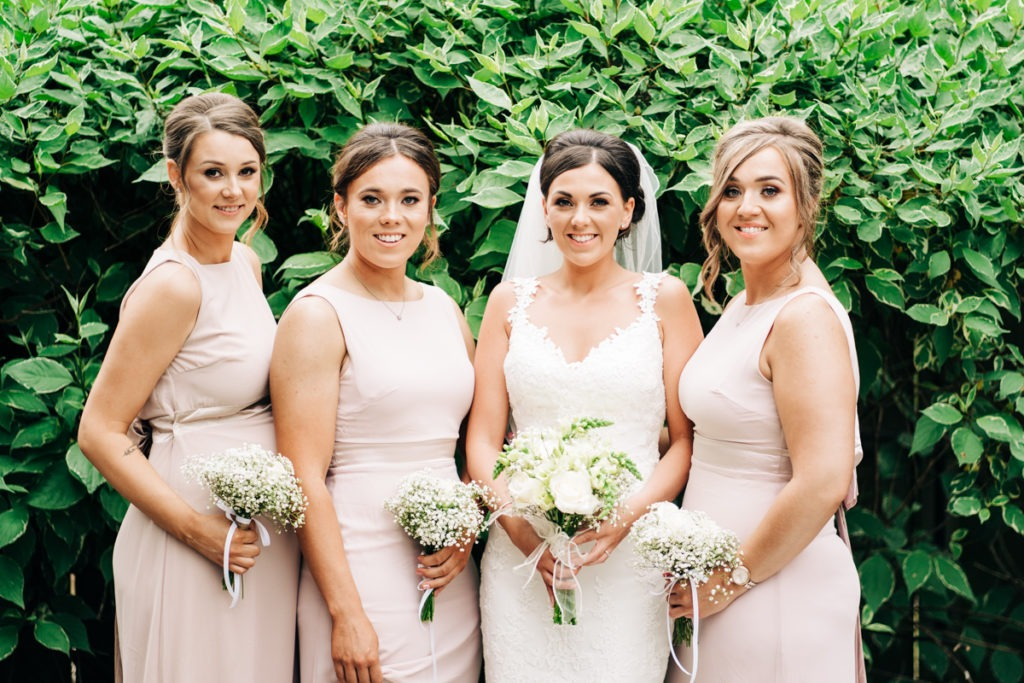 Bride squad at the barnyard in upchurch kent
