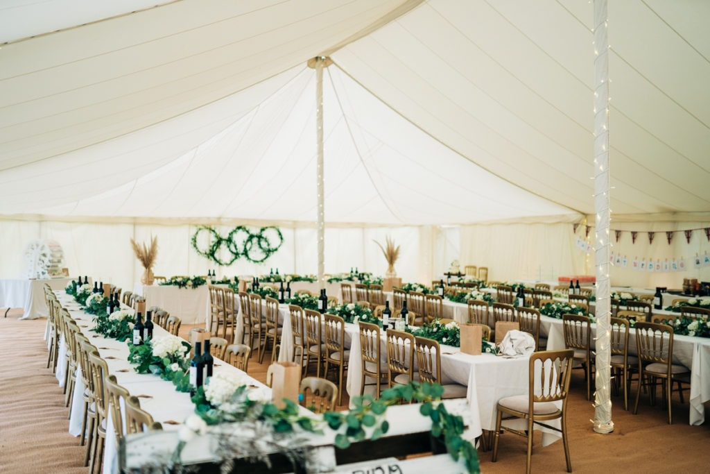 Marquee setup at Brenley Farm