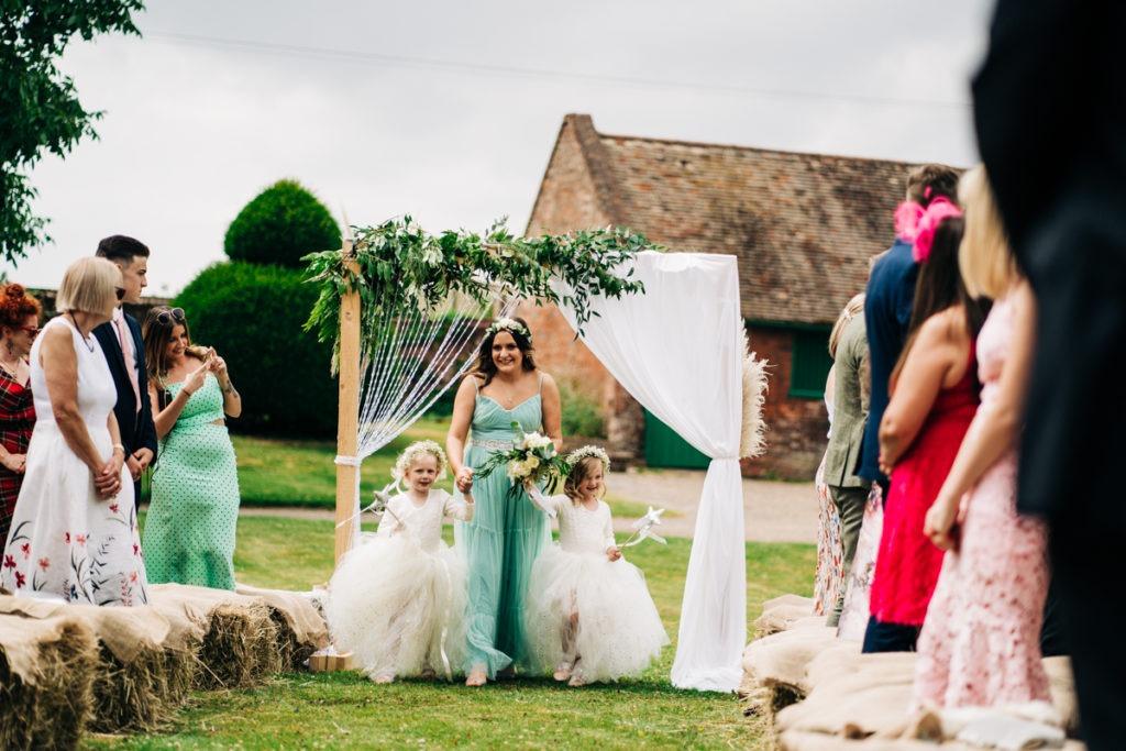 bridesmaids at Brenley Farm