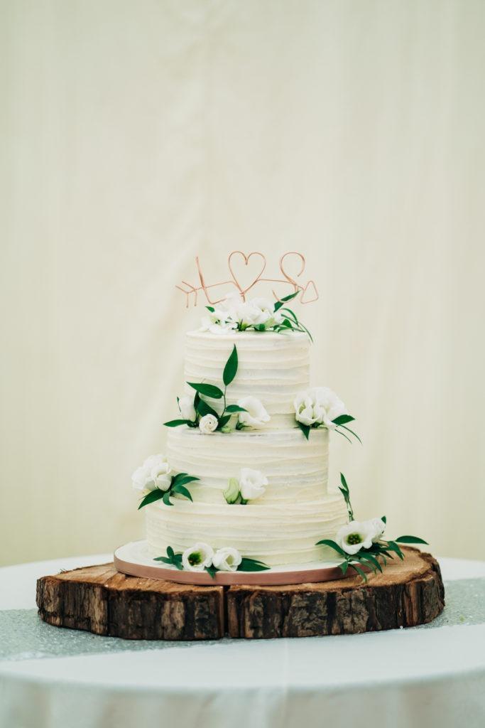 Wedding cake at Brenley Farm