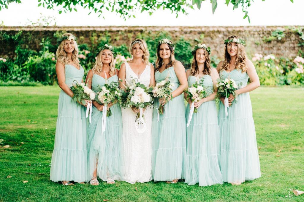 bride squad at Brenley Farm
