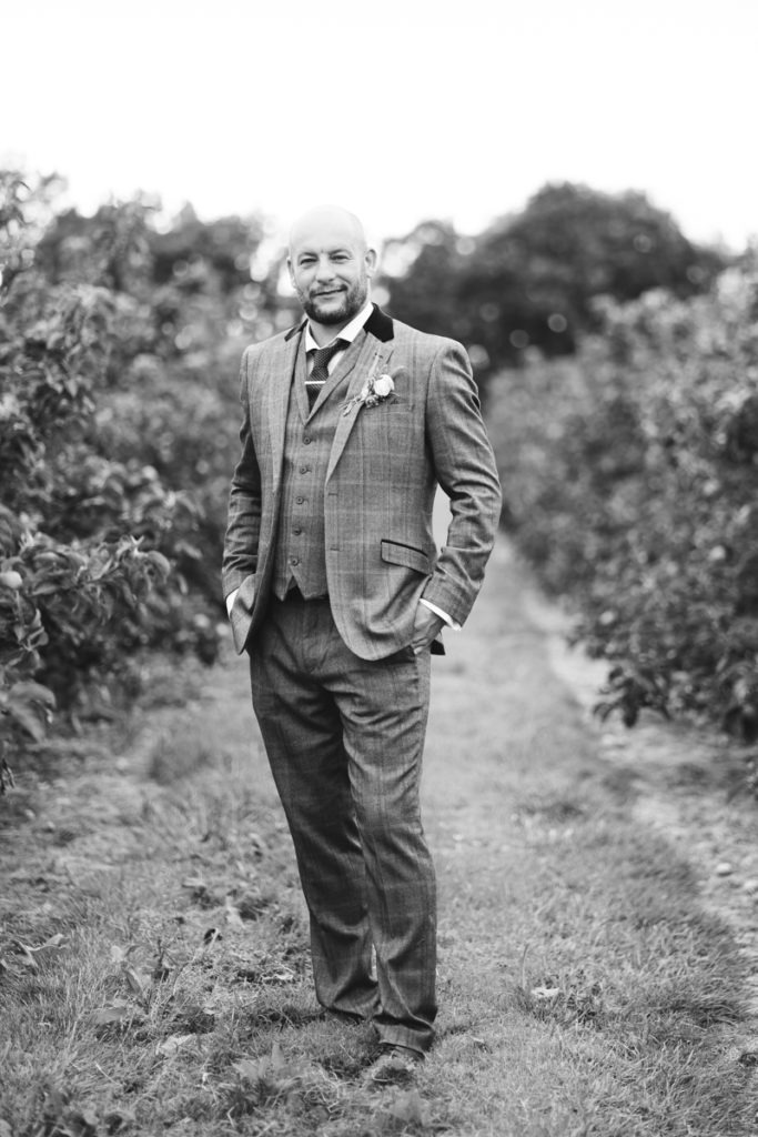 groom portrait at Brenley Farm Faversham