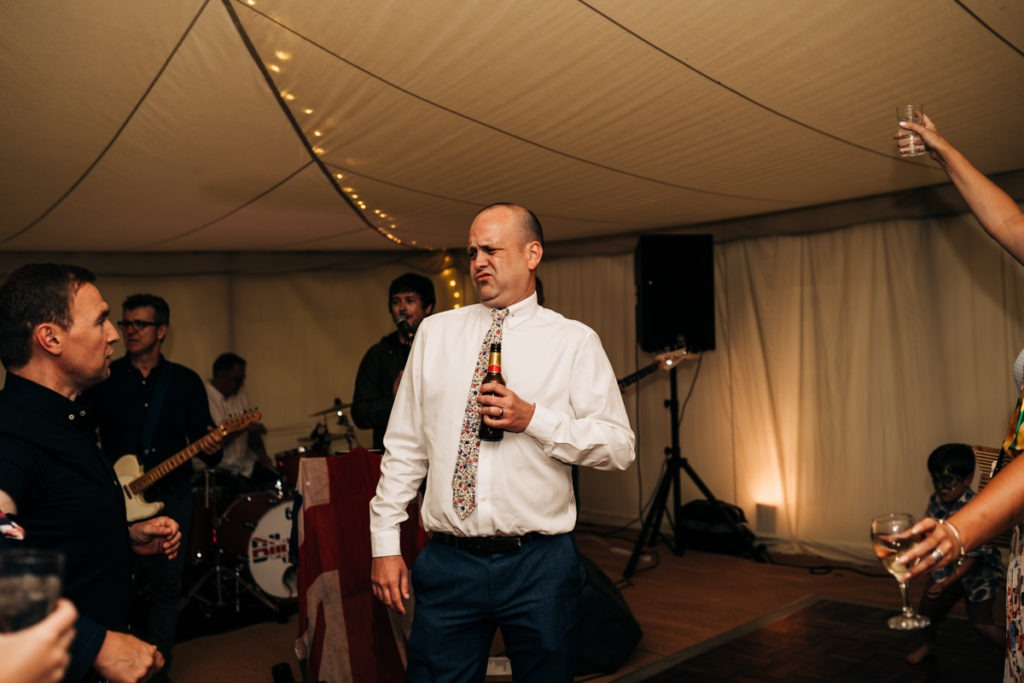 dancing at Breney Farm wedding