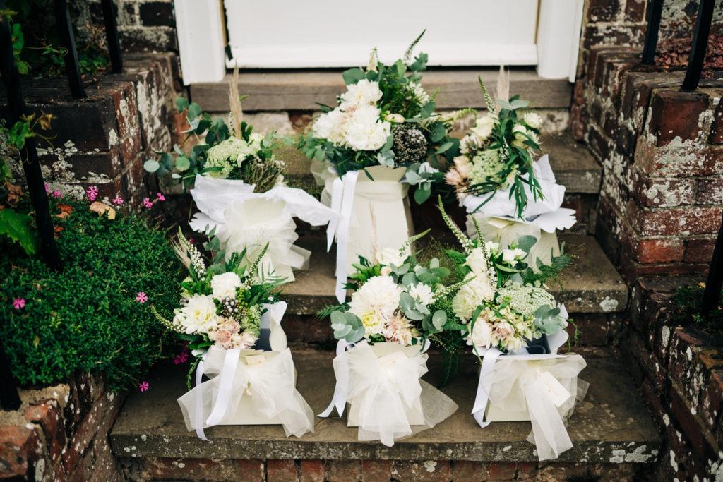 wedding flowers at Brenley Farm