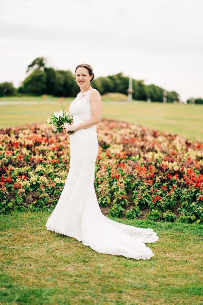 bridal portrait in folkestone wedding