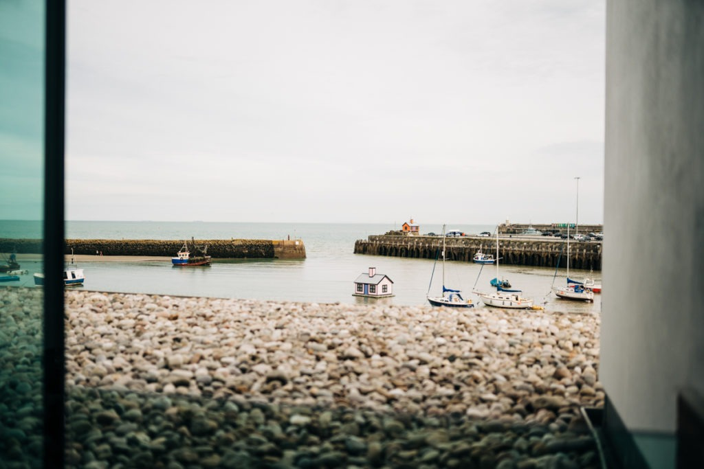 the view from Rocksalt folkestone harbour