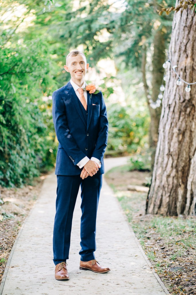 groom portrait at Hayne House