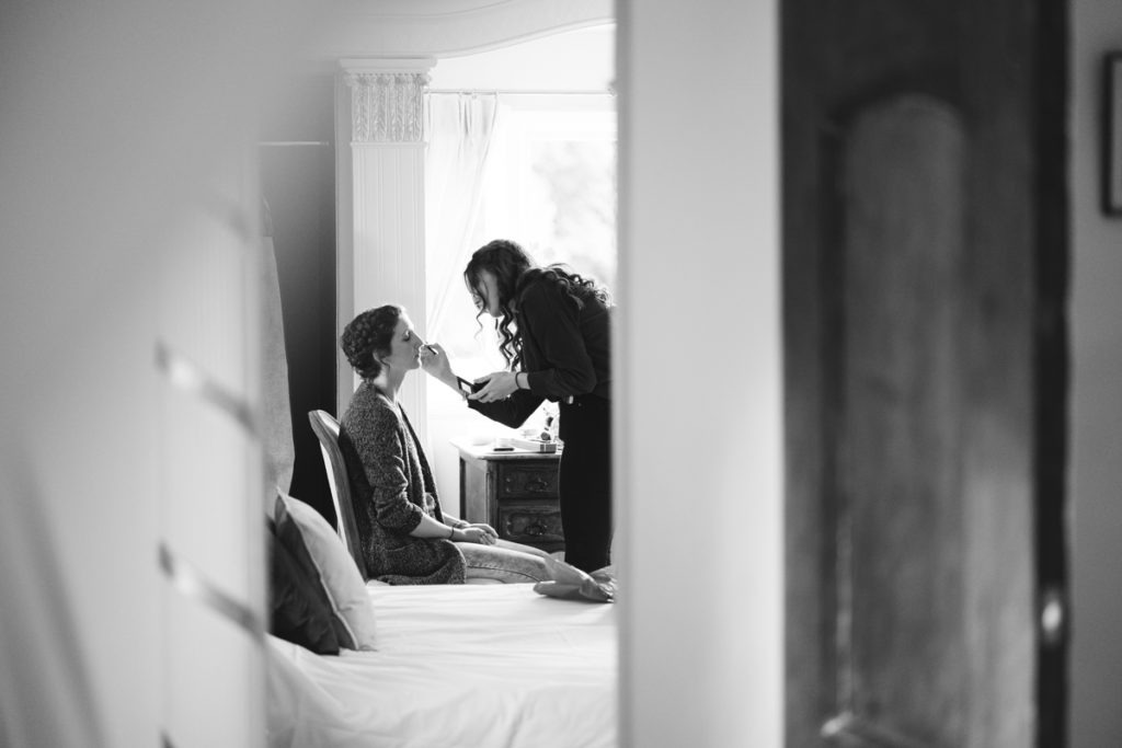 bridal prep at Hayne House
