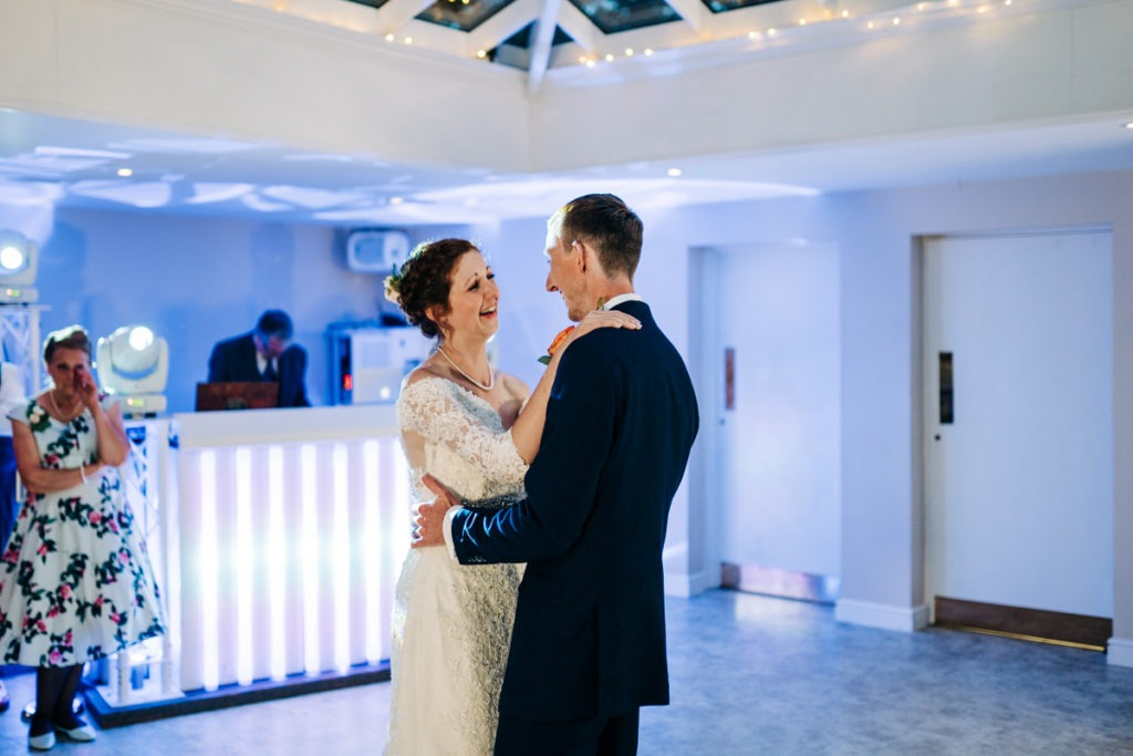 First dance at Hayne House Wedding venue hither