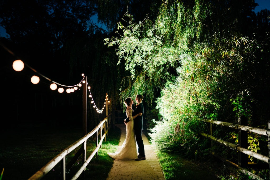 Evening photo at Hayne House Hythe Wedding