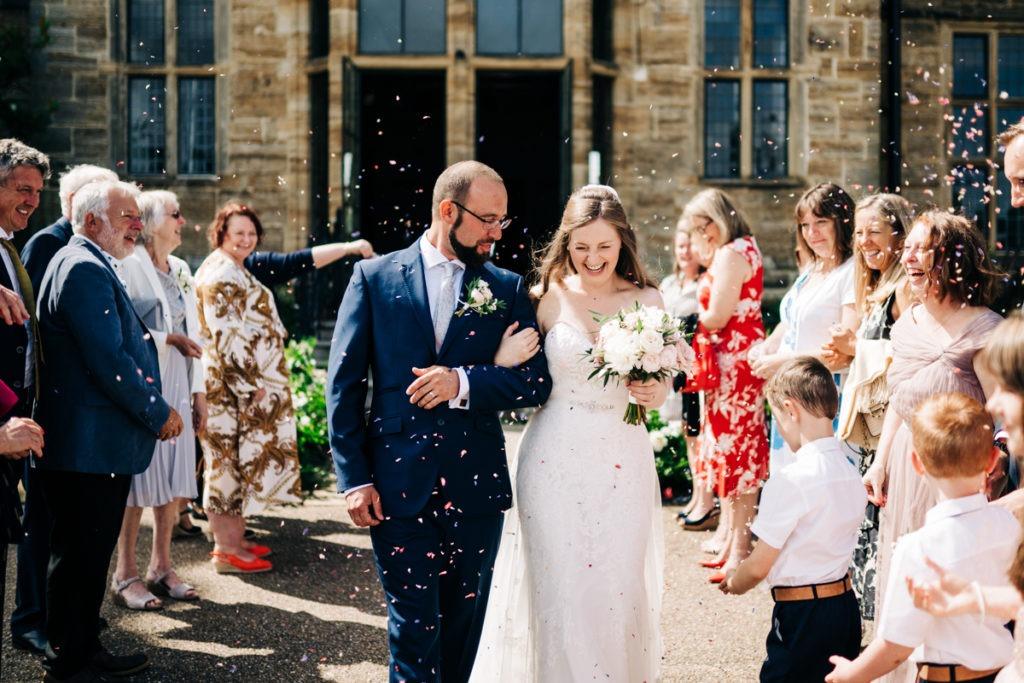 schools at Somerhill wedding confetti