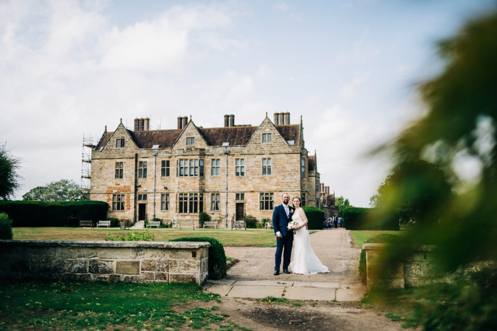 bride and groom portraits in kent